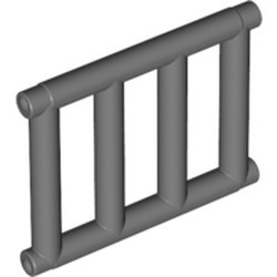 Dark Bluish Gray Bar 1 x 4 x 3 Grille with End Protrusions
