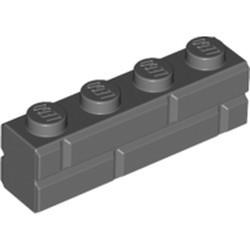 Dark Bluish Gray Brick, Modified 1 x 4 with Masonry Profile
