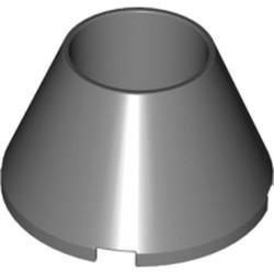 Dark Bluish Gray Cone 4 x 4 x 2 Hollow No Studs - used