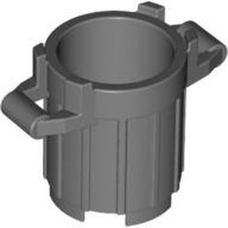 Dark Bluish Gray Container, Trash Can with 4 Cover Holders