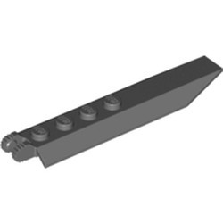 Dark Bluish Gray Hinge Plate 1 x 8 with Angled Side Extensions, 9 Teeth and Rounded Plate Underside - used