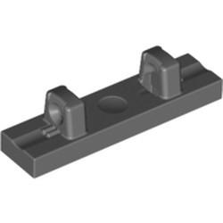 Dark Bluish Gray Hinge Tile 1 x 4 Locking Dual 1 Fingers on Top - used