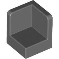 Dark Bluish Gray Panel 1 x 1 x 1 Corner - new