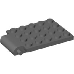 Dark Bluish Gray Plate, Modified 4 x 5 with Trap Door Hinge