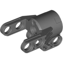 Dark Bluish Gray Technic, Axle and Pin Connector Block 4 x 3 x 2 1/2 (Linear Actuator Holder) - new