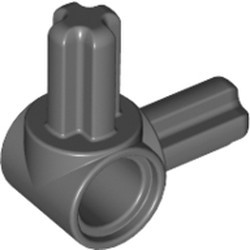 Dark Bluish Gray Technic, Axle and Pin Connector Hub with 2 Perpendicular Axles - used