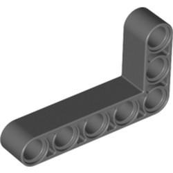 Dark Bluish Gray Technic, Liftarm, Modified Bent Thick L-Shape 3 x 5