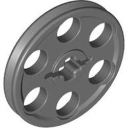 Dark Bluish Gray Technic Wedge Belt Wheel (Pulley) - new