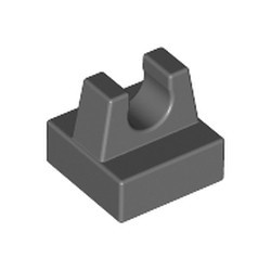 Dark Bluish Gray Tile, Modified 1 x 1 with Clip