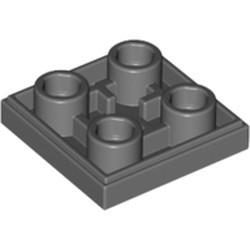Dark Bluish Gray Tile, Modified 2 x 2 Inverted