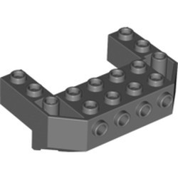 Dark Bluish Gray Train Front Sloping Base with 4 Studs