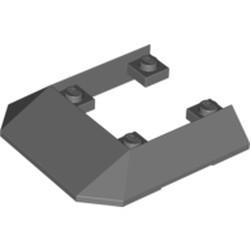 Dark Bluish Gray Wedge 6 x 6 Cutout (Train Roof) - used