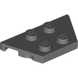 Dark Bluish Gray Wedge, Plate 2 x 4
