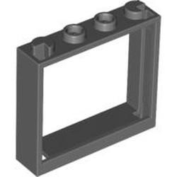 Dark Bluish Gray Window 1 x 4 x 3 - No Shutter Tabs - used
