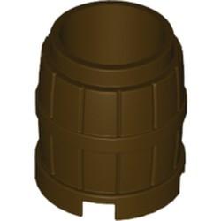Dark Brown Container, Barrel 2 x 2 x 2 - new