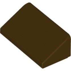Dark Brown Slope 30 1 x 2 x 2/3 - used