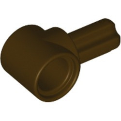 Dark Brown Technic, Axle and Pin Connector Hub with 1 Axle