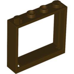 Dark Brown Window 1 x 4 x 3 - No Shutter Tabs