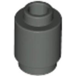 Dark Gray Brick, Round 1 x 1 Open Stud