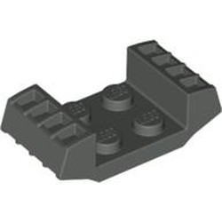 Dark Gray Plate, Modified 2 x 2 with Grills - used