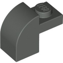 Dark Gray Slope, Curved 2 x 1 x 1 1/3 with Recessed Stud