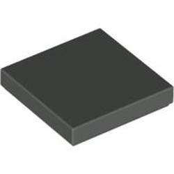 Dark Gray Tile 2 x 2 with Groove - used