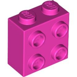 Dark Pink Brick, Modified 1 x 2 x 1 2/3 with Studs on 1 Side - new