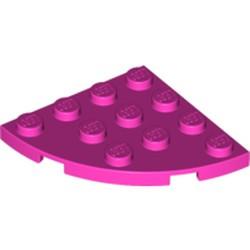 Dark Pink Plate, Round Corner 4 x 4