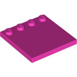 Dark Pink Tile, Modified 4 x 4 with Studs on Edge