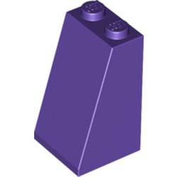 Dark Purple Slope 75 2 x 2 x 3 - Solid Studs - new