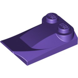 Dark Purple Slope, Curved 3 x 2 x 2/3 with Two Studs, Wing End