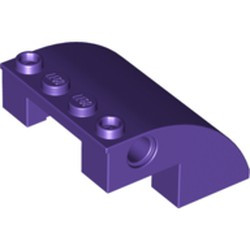 Dark Purple Slope, Curved 4 x 4 x 2 with Holes - new