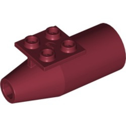 Dark Red Engine, Smooth Large, 2 x 2 Thin Top Plate