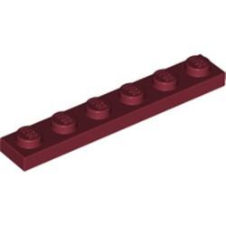 Dark Red Plate 1 x 6