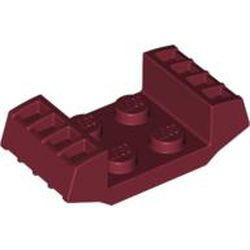 Dark Red Plate, Modified 2 x 2 with Vents