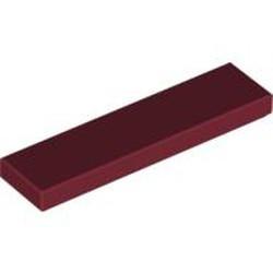 Dark Red Tile 1 x 4 - new