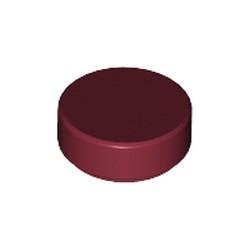 Dark Red Tile, Round 1 x 1 - new