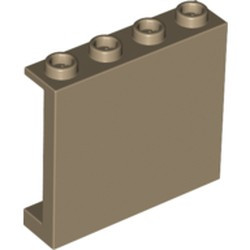 Dark Tan Panel 1 x 4 x 3 with Side Supports - Hollow Studs