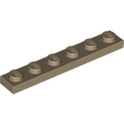 Dark Tan Plate 1 x 6 - used