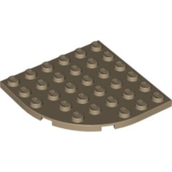 Dark Tan Plate, Round Corner 6 x 6