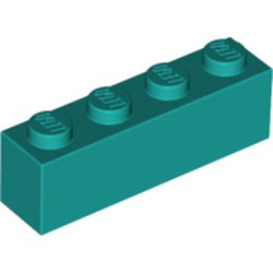 Dark Turquoise Brick 1 x 4