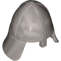 Flat Silver Minifigure, Headgear Helmet Castle with Neck Protector