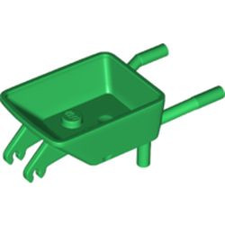 Green Minifigure, Utensil Wheelbarrow Frame