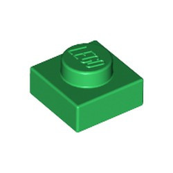 Green Plate 1 x 1 - new