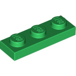 Green Plate 1 x 3 - new