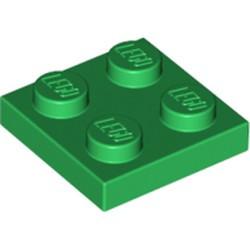 Green Plate 2 x 2