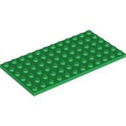 Green Plate 6 x 12 - used