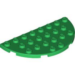 Green Plate, Round Half 4 x 8