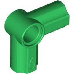 Green Technic, Axle and Pin Connector Angled #6 - 90 degrees - used