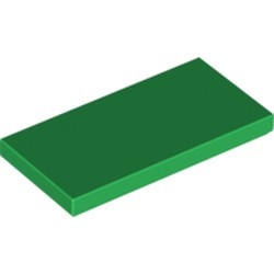 Green Tile 2 x 4 - used